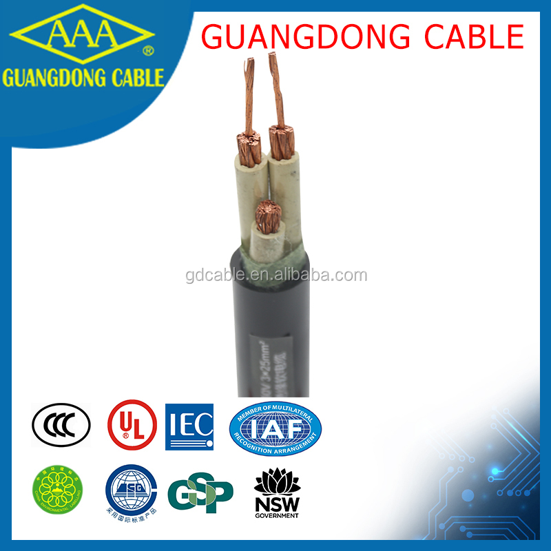 YC 3x25mm2 3 core copper conductor power cable wire rubber cable wholesale insulation YC cables