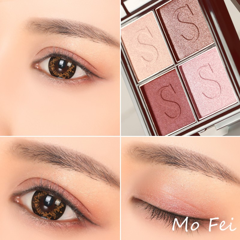 4 colors eye shadow palette OEM ODM high quality eye shadow pallet