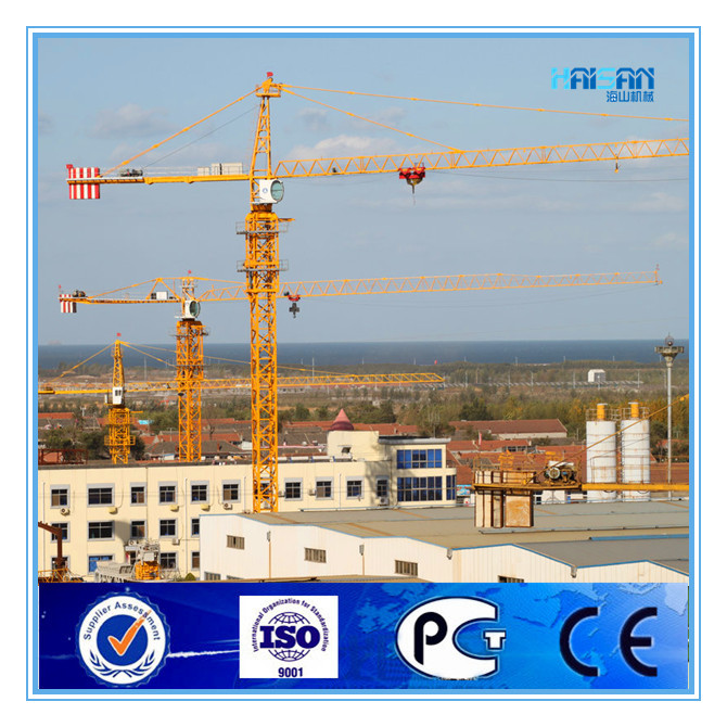 QTZ80 Tower Crane with fixing angles