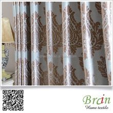 European luxury jacquard blackout curtains fabric