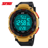 Wholesale Sport Men Wristwatch Electronic Watches Men Luxury Brand Skmei Rubber Band Week Date Alarm 5ATM Army Watch