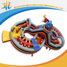 Commercial inflatable slide special design inflatable bouncy castle combo