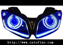 motorcycle head lamp for 2013 YZF R15 motorcycle eagle eye angel eye led headlight