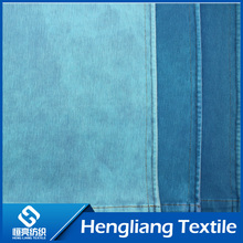 Knitted denim fabric elastic comfort breathable denim fabric white embryo T400 ribs twill