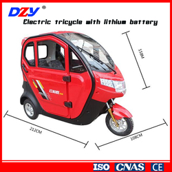 60V Voltage and 800W Power Electric Tricycles with lithium battery hot sale