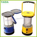 LED solar camping lantern with rechargeable batteries