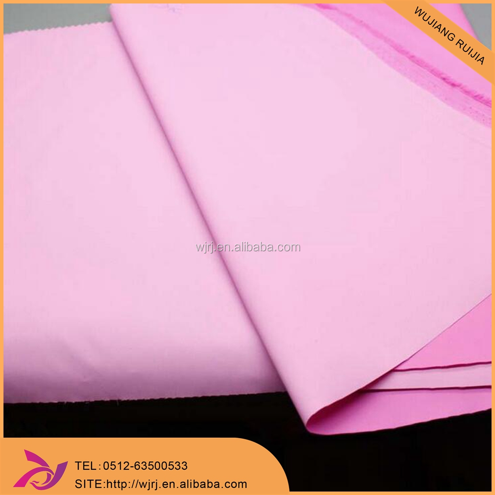 300T polyester waterproof milky coated pongee jacket fabric