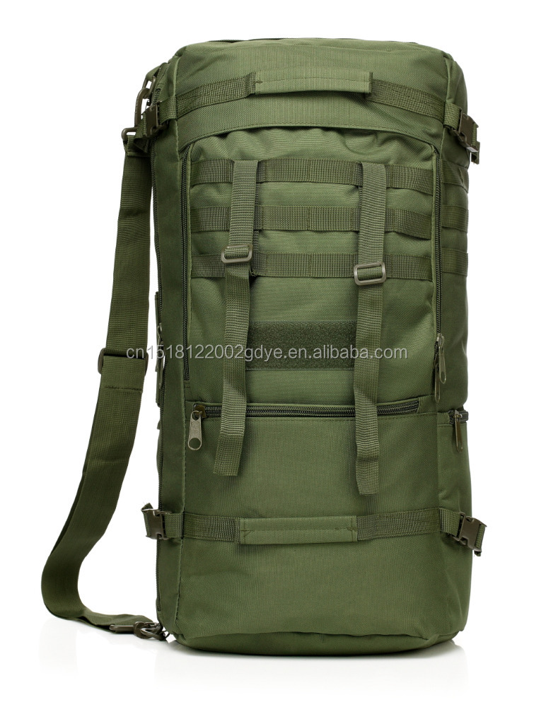 multicam outdoor waterproof molle rain cover military backpack sling bag 60L dual purpose tactical climbing backpack