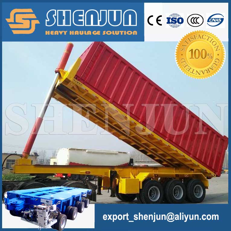 China supplier container dump /tipping semi trailer