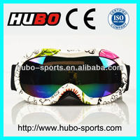 2014 new printed frame safety children motorcycle goggles