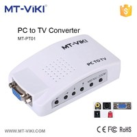 MT-VIKI VGA to AV S-Video Converter for PC to TV VGA to RCA converter
