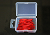 Freshwater Fishing Soft plastic Worms 30pcs Assorted Box of Red Worms