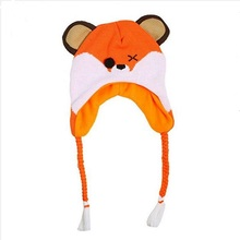 2018 New Fashion Cartoon Baby's handmade earflap kids knitted Animal hat