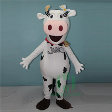 advertising cow mascot costume for adult wearing