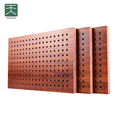 China suppliers cheap wood perforated acoustic panel for conference room