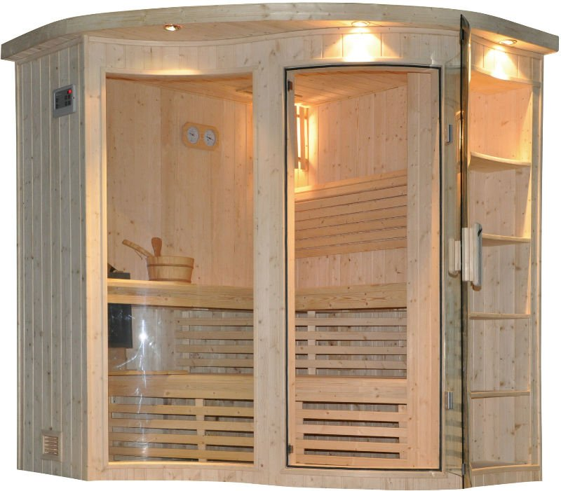 Round arc front sauna for 4 people