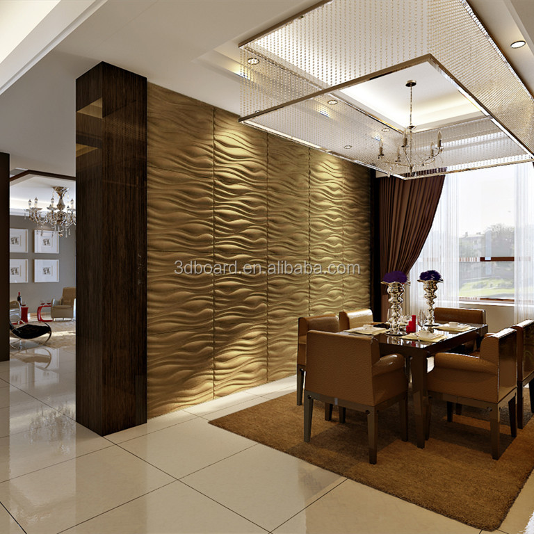 Golden suppiers decorative rock wall panels fireproof kitchen wall panels for wholesale