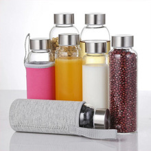 Wholesale BPA Free Borosilicate Beverage Coffee Tea Glass Sports Drinking Water Bottle