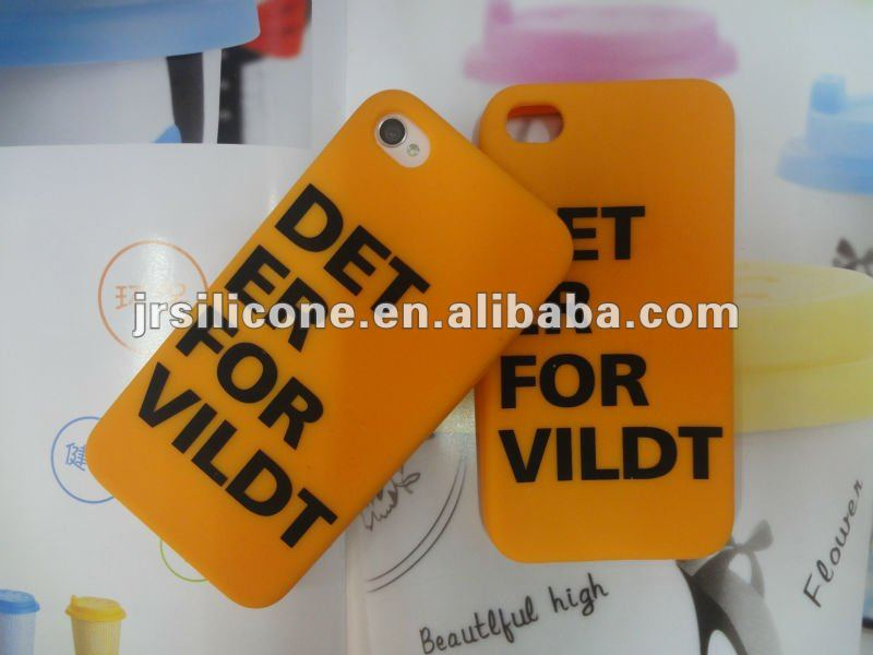 For iphone5 silicone cell phone case with printing or logo