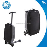 Suitcase Scooter Cabin Approved Travel Trolley , 2in 1 scooter luggage bag