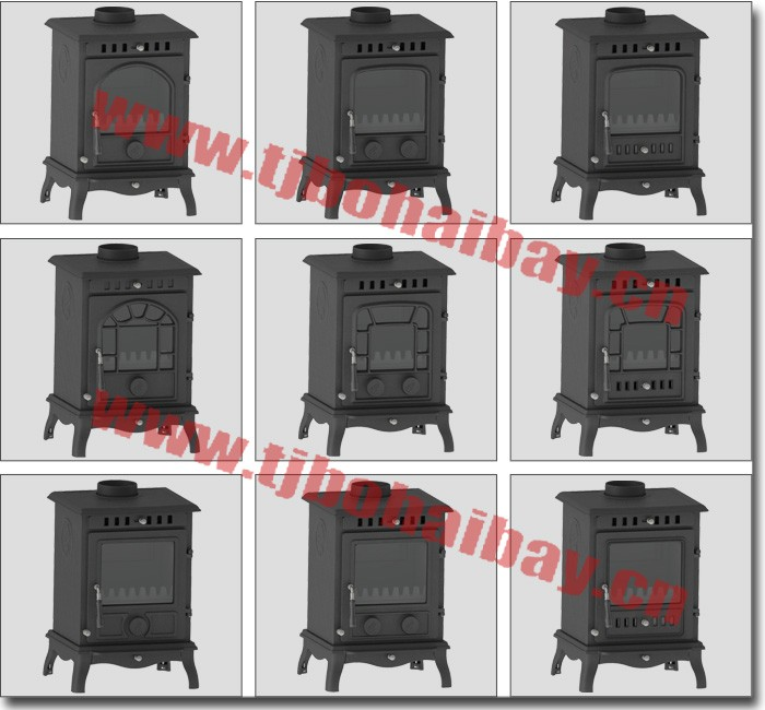 BHB Top or rear flue location 125mm chimney diameter wood burning stove