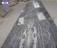 China black tree, black wood grain marble step for sale
