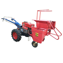 Agricultural walking tractor driven mini corn harvester/maize harvesting machine