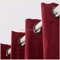 100% polyester hot sale linen like blackout window curtain