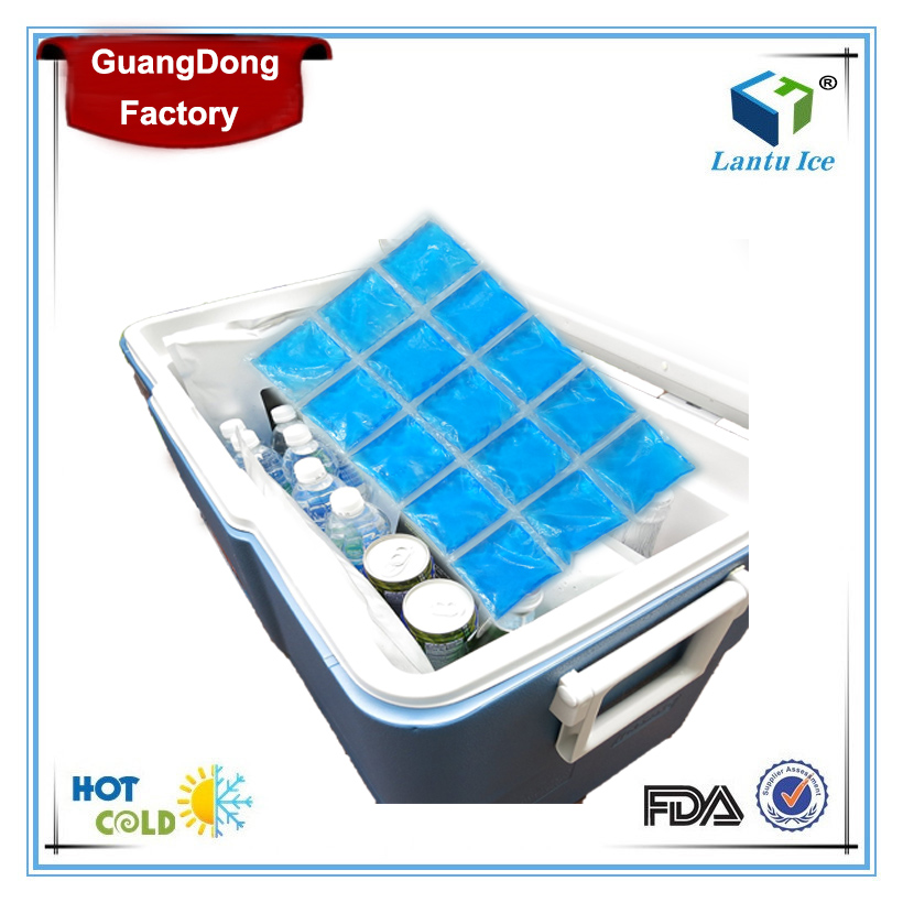 Long cooling time reusable gel ice blanket for food and beverage