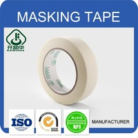 High quality No residue gummed automotive custom printed Crepe paper Masking Tape for bunding