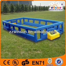 2 meter height inflatable football court frame,soccer games 20x10x2m