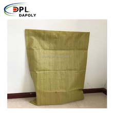 Wholesale Dark Yellow Color Competitive Price PP Woven Sand Bag
