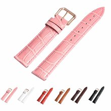 Genuine Cowhide Leather Wrist Watch Band with Stainless Buckle