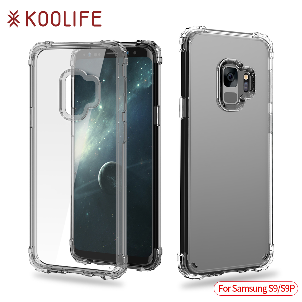 2018 transparent cell phone case shock proof case for samsung galaxy s9 case