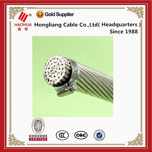 Bare Jacket and Aluminum Conductor Material ACSR cable 75mm ACSR Conductor