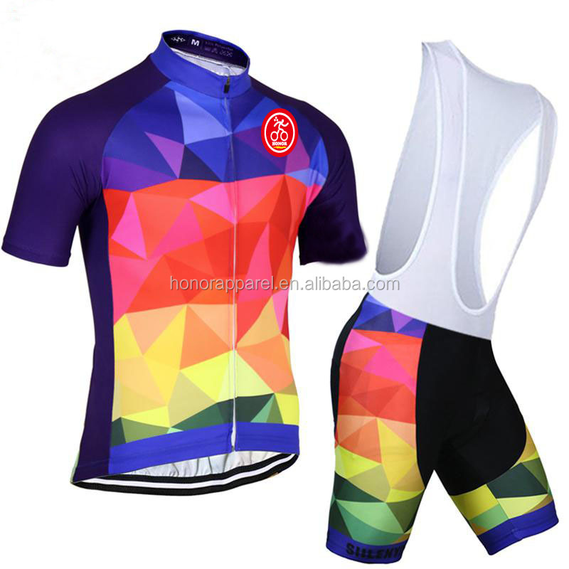 comfortable cycling top and shorts Unisex Customized Polyester funny cycling jerseys