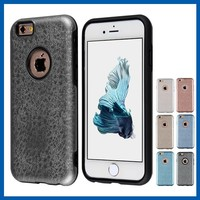 C&T Premium Imitate Handtailor Leather Skin Soft TPU Rubber Gel Case for iPhone 6 6S 4.7 inch