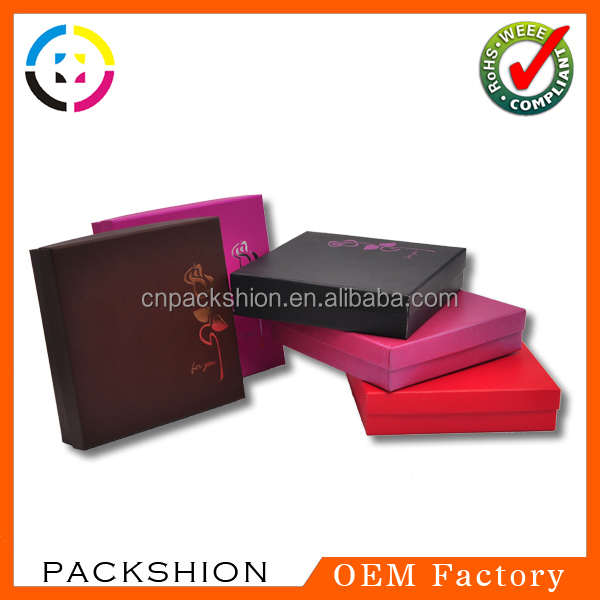 Popular small paper jewelry box with insert