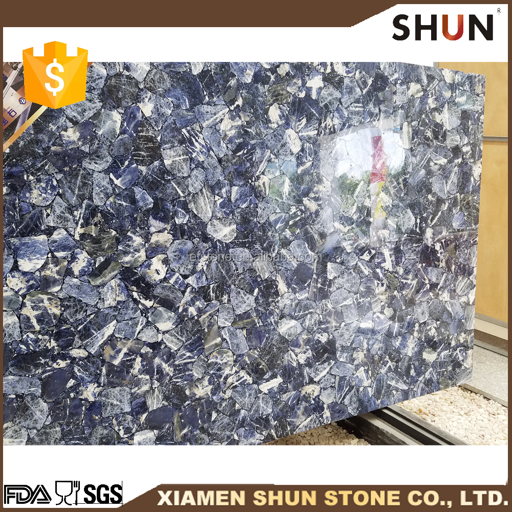 Azul marble slab,Blue marble floor tile, Artificial onyx quartz stone price
