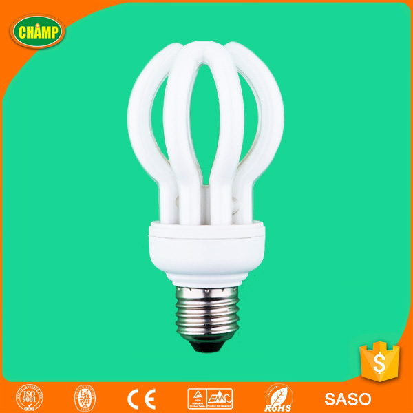 2017 fenghua ISO UL CE LVD EMC RoHS SASO AK approved E27B22 cfl light lotus energy saving lamp fluorescent lighting tube