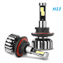 N7 80W 8000LM H4 9008/H13 Hi/Lo H7 LED Car Headlight Bulbs COB Chips LED Headlights All in one Head Lamp Front Light