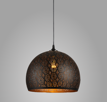 Deco Contemporary Hanging Lights Handmade Iron Drill Lamp Shade Morocco Etched Pendant Light