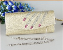 Beige Evening Party Purse Women HandBag Indian Wedding Clutch Lady Bag