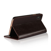 Top Selling Genuine Leather Stand Flip Stand Cover Case For iPhone X Leather Wallet Case With Card Slots Bulk Buy From China