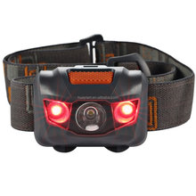 Headlamp LED Headlight 4 Mode Outdoor Flashlight Torch with Dimmable White Light Steady Red Light Adjustable and Water Resistant