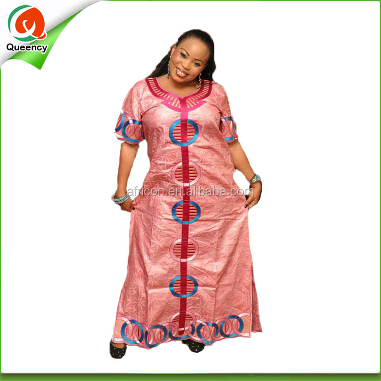 New design long dress LQ114-1 fashion african bazin riche dress women wear