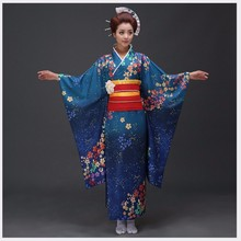 High Quality Japanese Women Kimono Yukata Sexy Women's Bar Costume NovetyPhoto Clothing Vintage Prom Dress One Size
