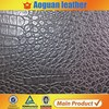 Crocodile print 1.0mm thickness embossed artificial leather,sofa material leather with cheap price