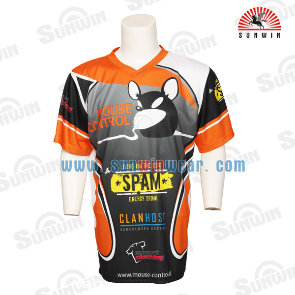 Wholesale custom dry fit gaming jersey sublimation short for Custom dry fit shirts