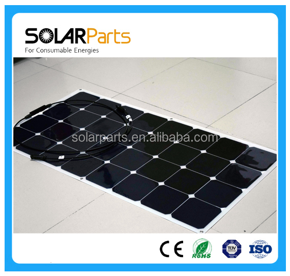 100 watt High Efficiency Flexible Solar Panels for boats